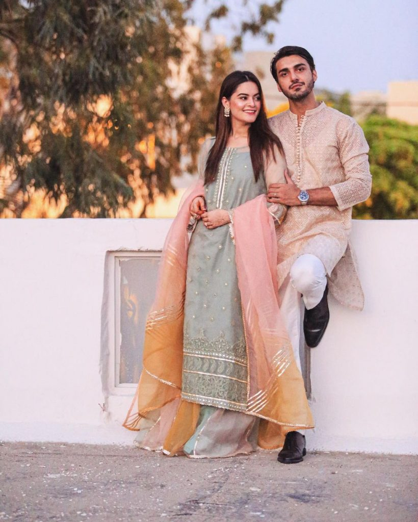 Minal Khan And Ahsan Mohsin On Their Way For Honey Moon