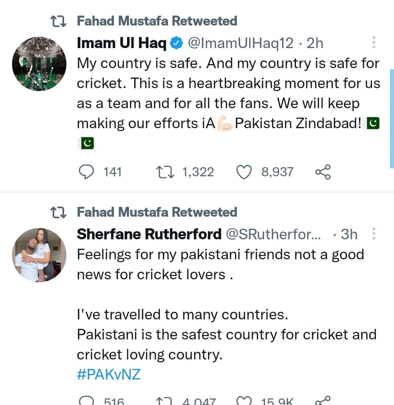 Pakistani Celebrities React To New Zealand Team Abandoning Pakistan Tour