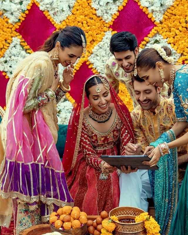 Nimra Khan And Aimal Khan Pair Up For Annus Abrar's Bridal Campaing