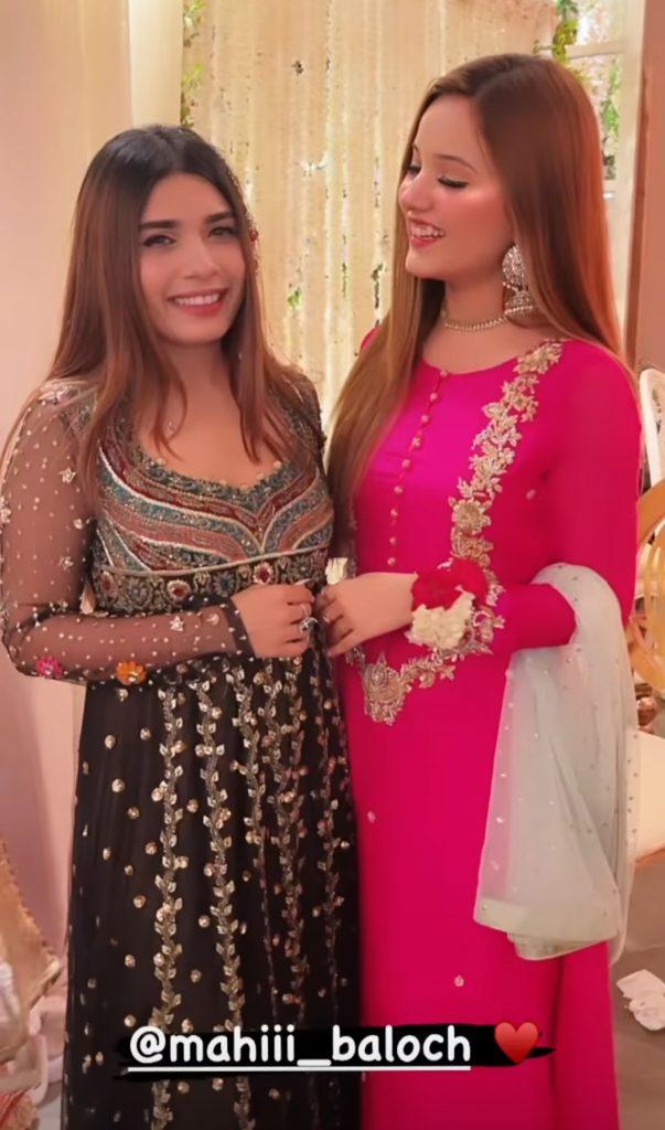 Adorable Clicks Of Rabeeca Khan From Minal And Ahsan's Wedding