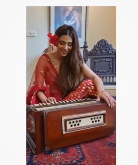 Sonya Hussyn's Latest Video While Playing Harmonium Sparks Criticism