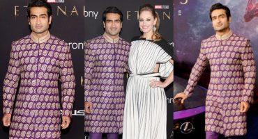 Kumail Nanjiani Flaunts Pakistani Fashion At Eternals World Premiere