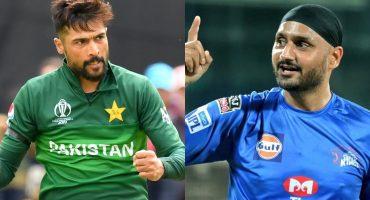 War Of Words Between Mohammad Amir And Harbhajan Singh