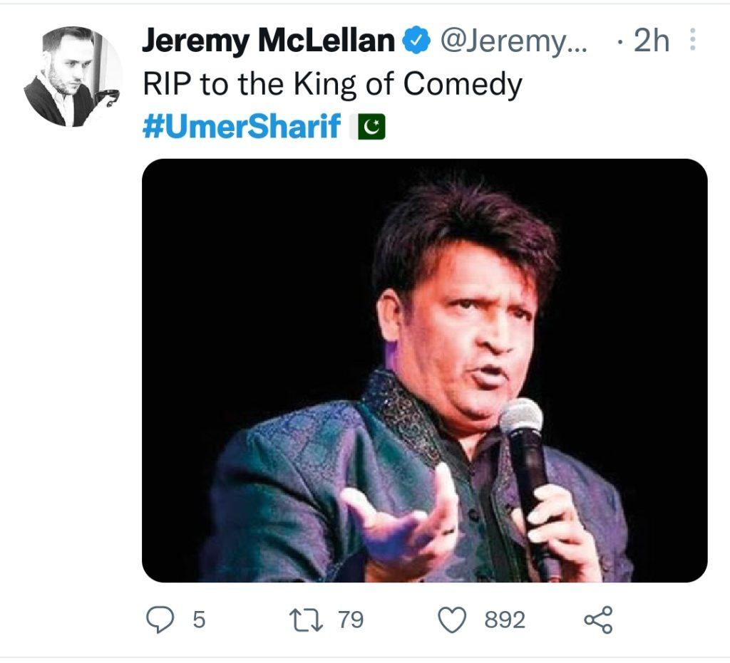 Indian Celebrities Extend Condolences On Umer Sharif's Death