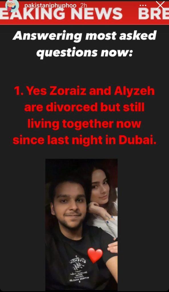 Alyzeh Gabol And Zoraiz Malik's Story Takes A Shocking Turn