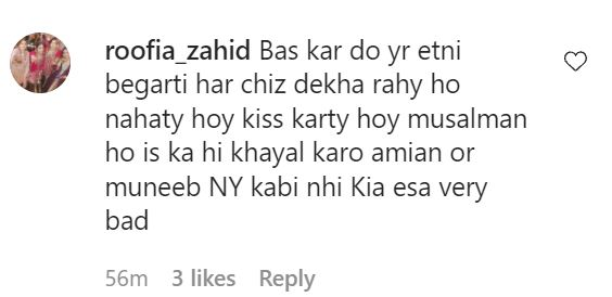 Minal Khan And Ahsan Mohsin's Kissing Video Invites Public Backlash