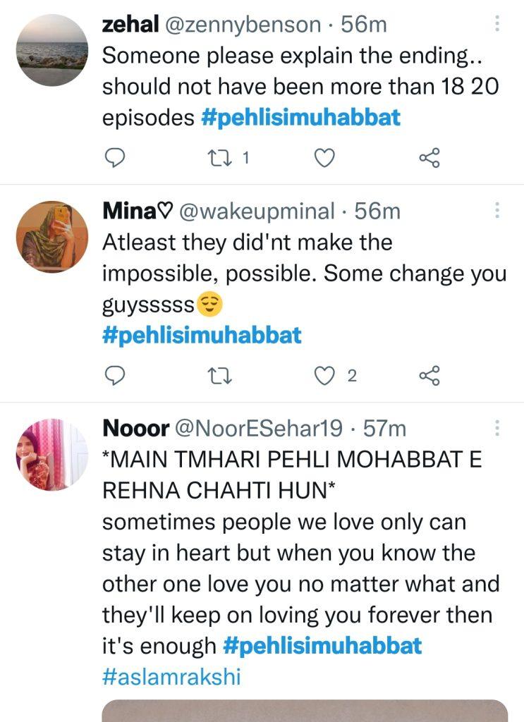 Pehli Si Mohabbat Last Episode - Public Opinion