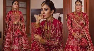 Ayeza Khan Featured In Mohsin Naveed Ranjha's Latest Bridal Collection