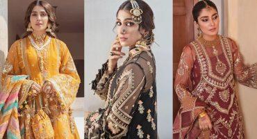 Ayeza Khan Flaunts Elegance In Luxury Ensembles By Mohsin Naveed Ranjha