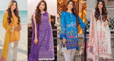 Faiza Saqlain's Silk Stitched Collection 2021 Featuring Aymen Saleem