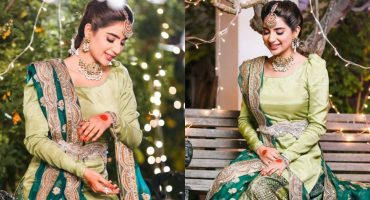 Saboor Aly Looked Glorious In These BTS Clicks From The Set Of Amanat
